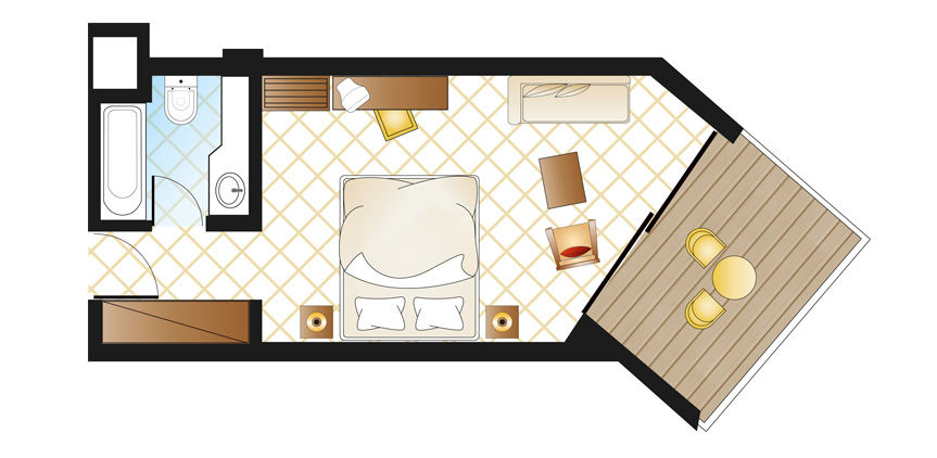double-room-garden-view-floorplan